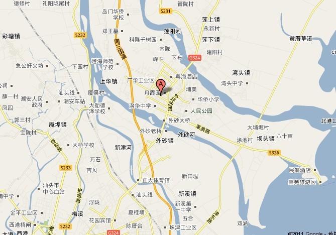 澄海旅游地图