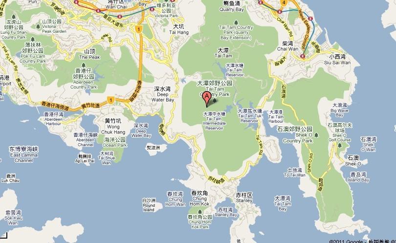港岛旅游地图