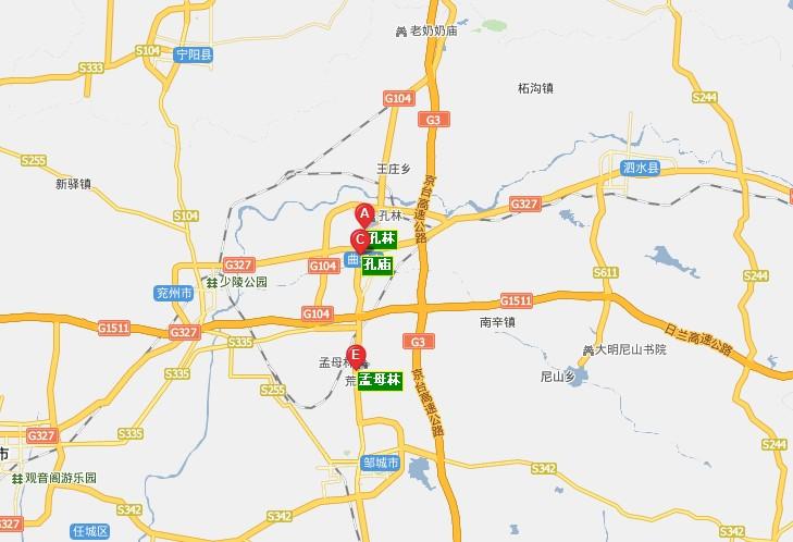 曲阜旅游地图
