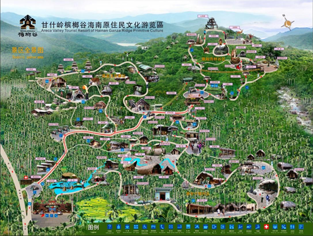 国内旅游 海南旅游 三亚旅游 三亚槟榔谷地图