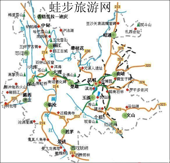 云南旅游地图