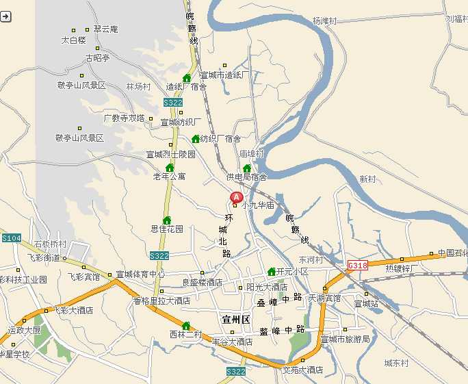 宣城敬亭山交通地图