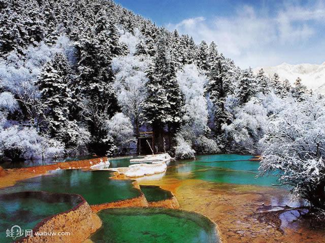 九寨沟冬天